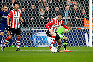 20-03-2016 VOETBAL:PSV-AJAX:EINDHOVEN<br /> Marco van Ginkel van PSV in duel met Lasse Schone van Ajax <br /> <br /> Foto: Geert van Erven