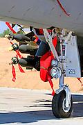Israeli Air force Boeing F-15I Thunder 'Ra'am' - loaded with GBU-16 Paveway II laser guided bombs.