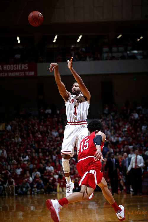 Indiana guard James Blackmon Jr. (1) in action as Nebraska played Indiana in an NCCA college basketball game in Bloomington, Ind., Wednesday, Dec. 28, 2016. (AJ Mast via AP Images)