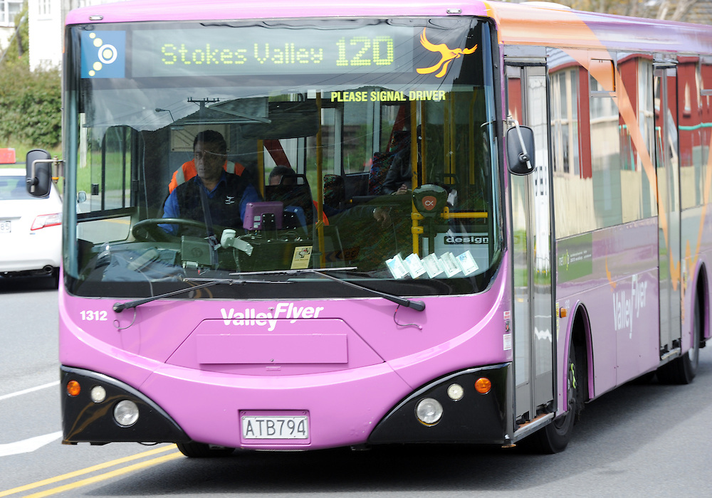 Valley Flyer bus, coach service, Taita, Wellington, New Zealand, Friday, October 03, 2014. Credit:SNPA / Ross Setford