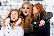 The Dutch Royal family with Crownprincess Amalia (C) and Princesses Ariana (L) and Alexia (R), pose for the media during their annual photo session ahead of their private winter vacations in Lech, Austria, 25 February 2020.<br /> 25 Feb 2020