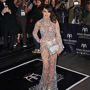 London,England,UK : 8th April 2016 : Lizzie Cundy attend the The Asian Awards 2016 at Grosvenor House Hotel, Park Lane, London. Photo by See Li