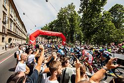 Start in Ljubljana during 1st Stage of 26th Tour of Slovenia 2019 cycling race between Ljubljana and Rogaska Slatina (171 km), on June 19, 2019 in  Slovenia. Photo by Vid Ponikvar / Sportida