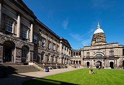 View of courtyard at Old College at University of Edinburgh, Scotland, Uk