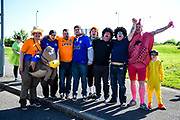 Oldham Fans in fancy dress during the EFL Sky Bet League 1 match between Northampton Town and Oldham Athletic at Sixfields Stadium, Northampton, England on 5 May 2018. Picture by Dennis Goodwin.