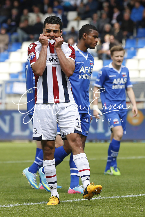 Onderwerp/Subject: Willem II - Eredivisie<br /> Reklame:  <br /> Club/Team/Country: <br /> Seizoen/Season: 2012/2013<br /> FOTO/PHOTO: Sofian AKOUILI of Willem II dejected. (Photo by PICS UNITED)<br /> <br /> Trefwoorden/Keywords: <br /> #03 $94 &plusmn;1355244121349 &plusmn;1355244121349<br /> Photo- &amp; Copyrights &copy; PICS UNITED <br /> P.O. Box 7164 - 5605 BE  EINDHOVEN (THE NETHERLANDS) <br /> Phone +31 (0)40 296 28 00 <br /> Fax +31 (0) 40 248 47 43 <br /> http://www.pics-united.com <br /> e-mail : sales@pics-united.com (If you would like to raise any issues regarding any aspects of products / service of PICS UNITED) or <br /> e-mail : sales@pics-united.com   <br /> <br /> ATTENTIE: <br /> Publicatie ook bij aanbieding door derden is slechts toegestaan na verkregen toestemming van Pics United. <br /> VOLLEDIGE NAAMSVERMELDING IS VERPLICHT! (&copy; PICS UNITED/Naam Fotograaf, zie veld 4 van de bestandsinfo 'credits') <br /> ATTENTION:  <br /> &copy; Pics United. Reproduction/publication of this photo by any parties is only permitted after authorisation is sought and obtained from  PICS UNITED- THE NETHERLANDS