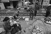 Vietnam, Hanoi: street scene.