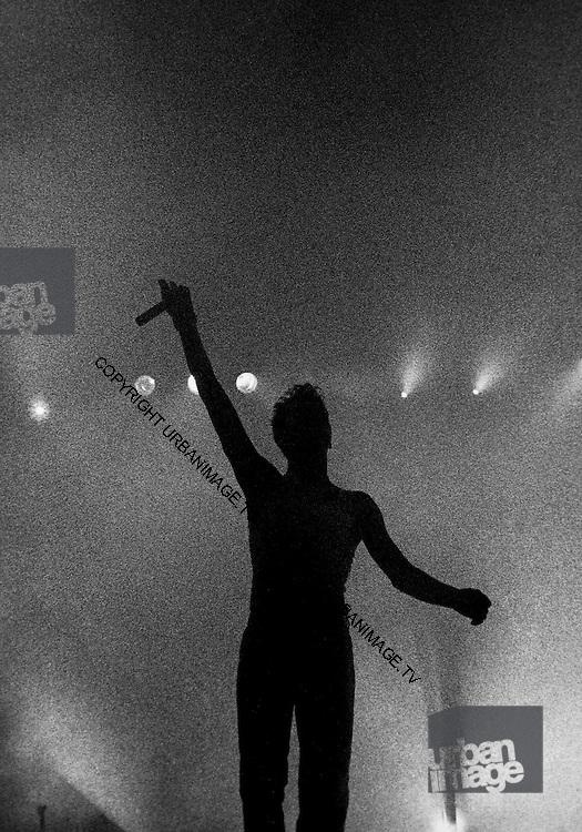 Depeche Mode performing live at Pasadena Rose Bowl, June 1988