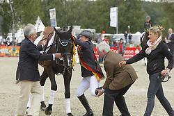 Jung, Michael;<br /> Graf zu Rantzau, Breido;<br /> Heigel, Holger, Weidezaunsprofi´s River of Joy<br /> Meisterehrung<br /> © www.sportfotos-lafrentz.de/Stefan Lafrentz