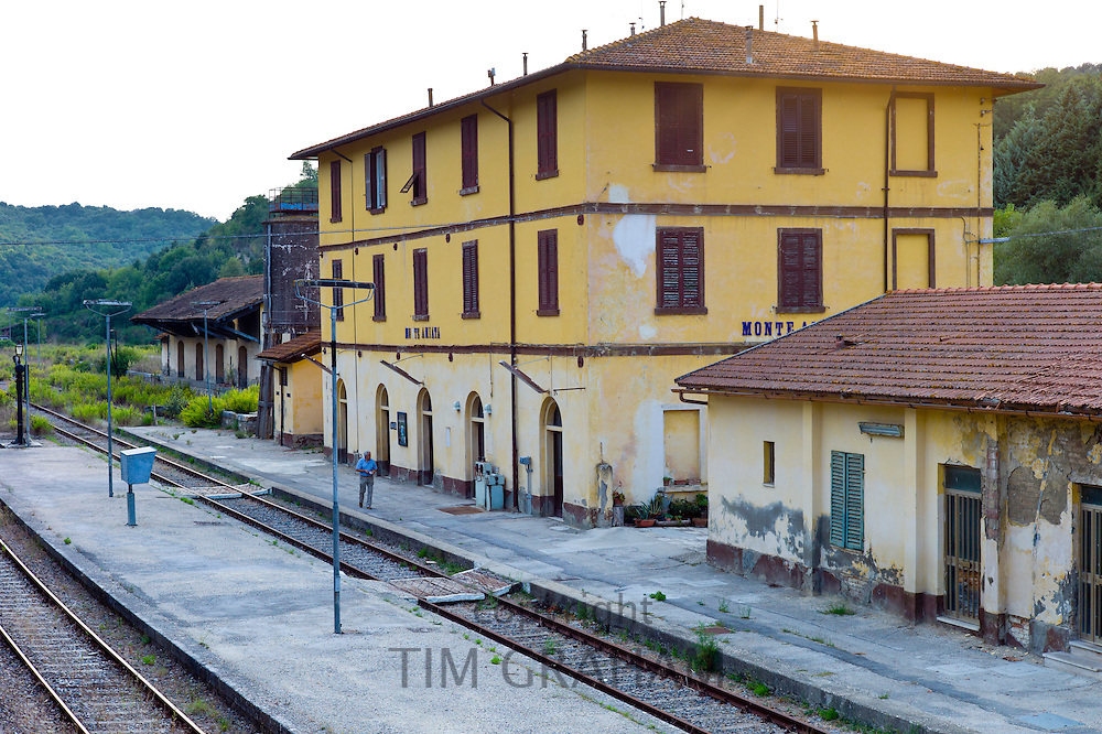 Monte Amiata Railway Station in Val D'Orcia,Tuscany, Italy