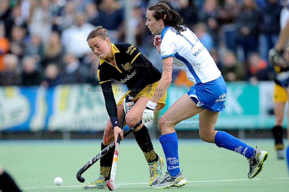 01-05-2010 HOCKEY: KAMPONG - DEN BOSCH: UTRECHT <br /> Kampong verliest de eerste wedstrijd in de play-offs met 1-0 van Den Bosch / <br /> Maartje Paumen en Marlies Verbruggen<br /> &copy;2010-WWW.FOTOHOOGENDOORN.NL