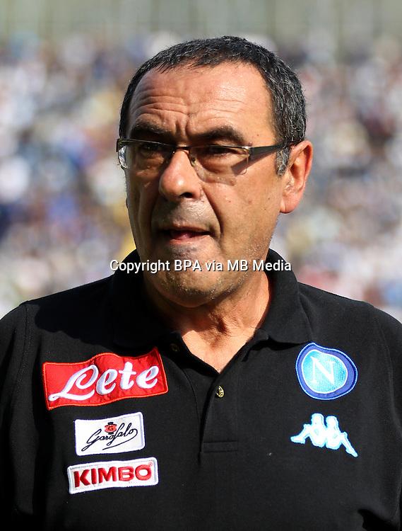 Italian League Serie A -2016-2017 / <br /> ( Ssc Napoli ) - <br /> Maurizio Sarri - DT Ssc Napoli
