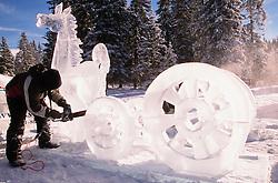 Ice Magic International Ice Sculpture Competition , Annual Winter Festival, Lake Louise, Alberta, Canada