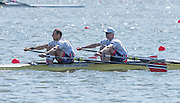 Brandenburg. GERMANY.<br /> NOR M2X.  Bow Kjetil BORCH, and Olaf<br /> TUFTE,  016 European Rowing Championships at the Regattastrecke Beetzsee<br /> <br /> Saturday  07/05/2016<br /> <br /> [Mandatory Credit; Peter SPURRIER/Intersport-images]