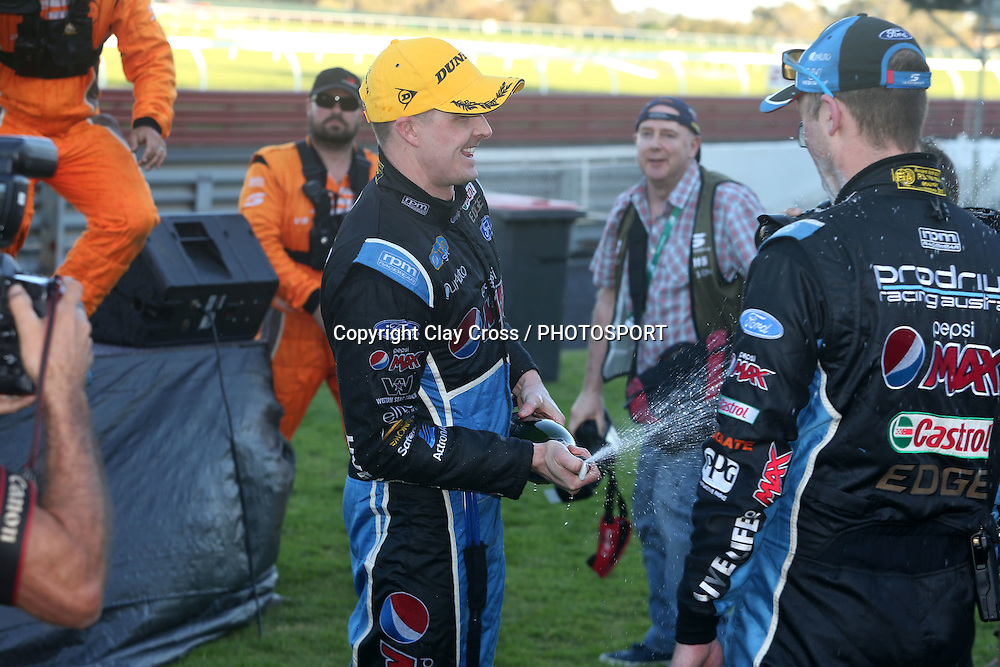 Mark Winterbottom & Steve Owen (Pepsi Max Ford). 2015 Wilson Security Sandown 500. V8 Supercars Championship Round 9. Sandown International Raceway, Victoria. Sunday 13 September 2015. Photo: Clay Cross / photosport.nz