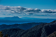 Looking northwards towards Mt Tauhara on the left side of image at the eastern side of Lake Taupo, the far right small peak is Mt Tarawera in Rotorua.