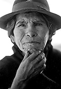 Portrait of a woman I met in Potosi - South Zentral Bolivia_1993