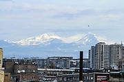 Ashtarak, Aragatsotn Province, Armenia mount Aragats in the background