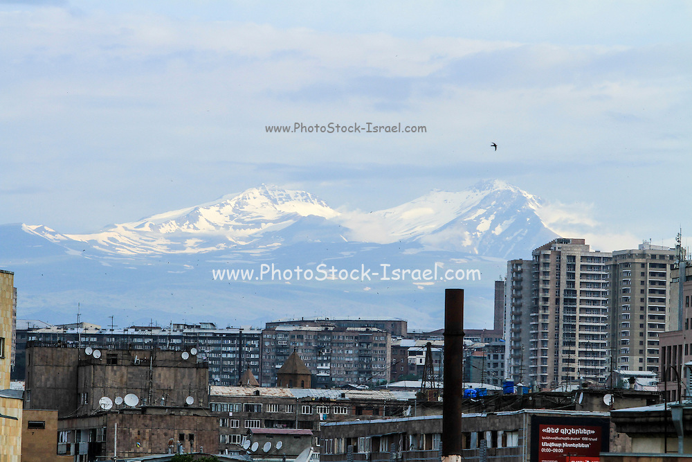 Ashtarak, Aragatsotn Province, Armenia mount Aragats in the background