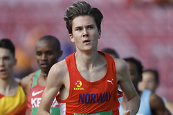 July 10, 2018 - Tampere, Suomi Finland - 180710 Friidrott, Junior-VM, Dag 1: Jakob Ingebrigtsen competes in 1500m during the IAAF World U20 Championships day 1 at the Ratina stadion 10. July 2018 in Tampere, Finland  (Credit Image: © Kalle Parkkinen/Bildbyran via ZUMA Press)