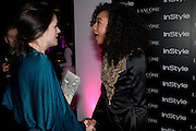 EILIDH MACASKILL; CORINNE BAILEY RAE; , InStyle's Best Of British Talent Party in association with Lancome. Shoreditch HouseLondon. 25 January 2011, -DO NOT ARCHIVE-© Copyright Photograph by Dafydd Jones. 248 Clapham Rd. London SW9 0PZ. Tel 0207 820 0771. www.dafjones.com.