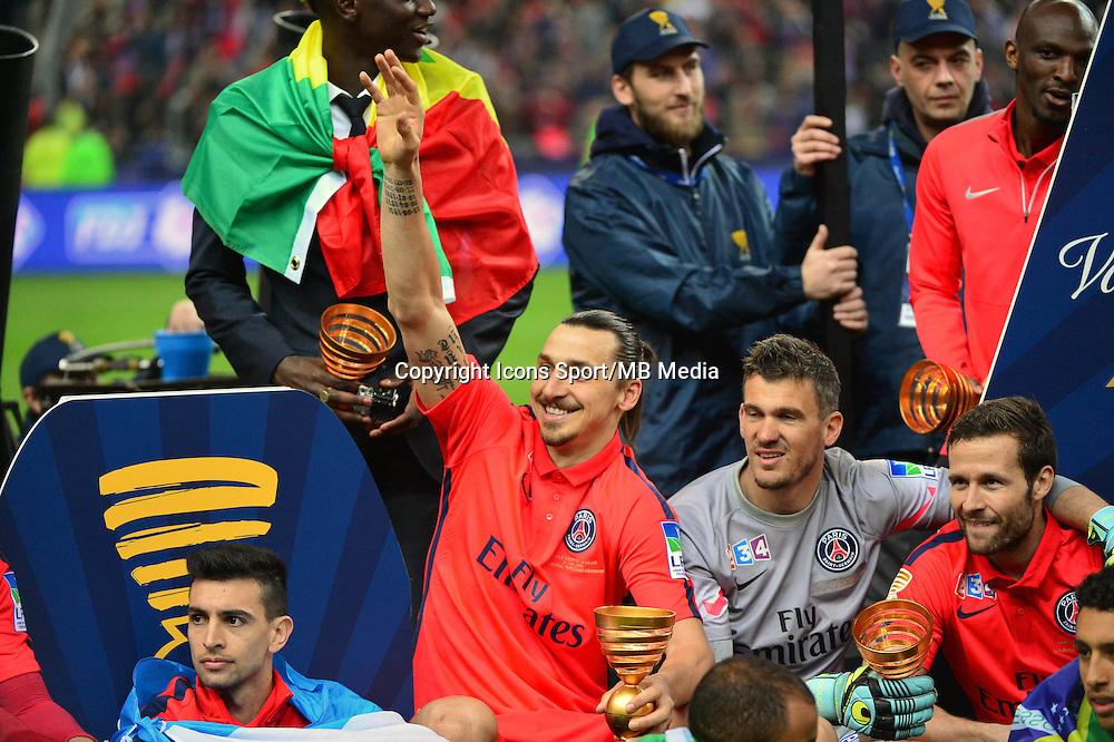 Victoire du PSG / Zlatan IBRAHIMOVIC  - 11.04.2015 -  Bastia / PSG - Finale de la Coupe de la Ligue 2015<br />Photo : Dave Winter / Icon Sport