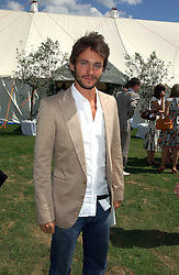 Actor HUGH DANCY at the Cartier International polo at Guards Polo Club, Windsor Great Park, on 30th July 2006.<br /><br />NON EXCLUSIVE - WORLD RIGHTS
