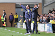 Burton Albion manager Nigel Clough and Fulham manager Slavisa Jokanovic react during the EFL Sky Bet Championship match between Burton Albion and Fulham at the Pirelli Stadium, Burton upon Trent, England on 16 September 2017. Photo by Richard Holmes.