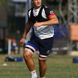 Etienne Oosthuizen  during The Cell C Sharks training session at Growthpoint Kings Park in Durban, South Africa. 11th July 2017(Photo by Steve Haag)<br /> <br /> images for social media must have consent from Steve Haag