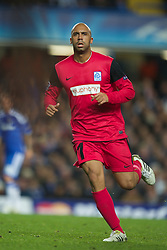 LONDON, ENGLAND - Wednesday, October 19, 2011: Racing Genk's Anthony Vanden Borre in action during the UEFA Champions League Group E match at Stamford Bridge. (Photo by Chris Brunskill/Propaganda)