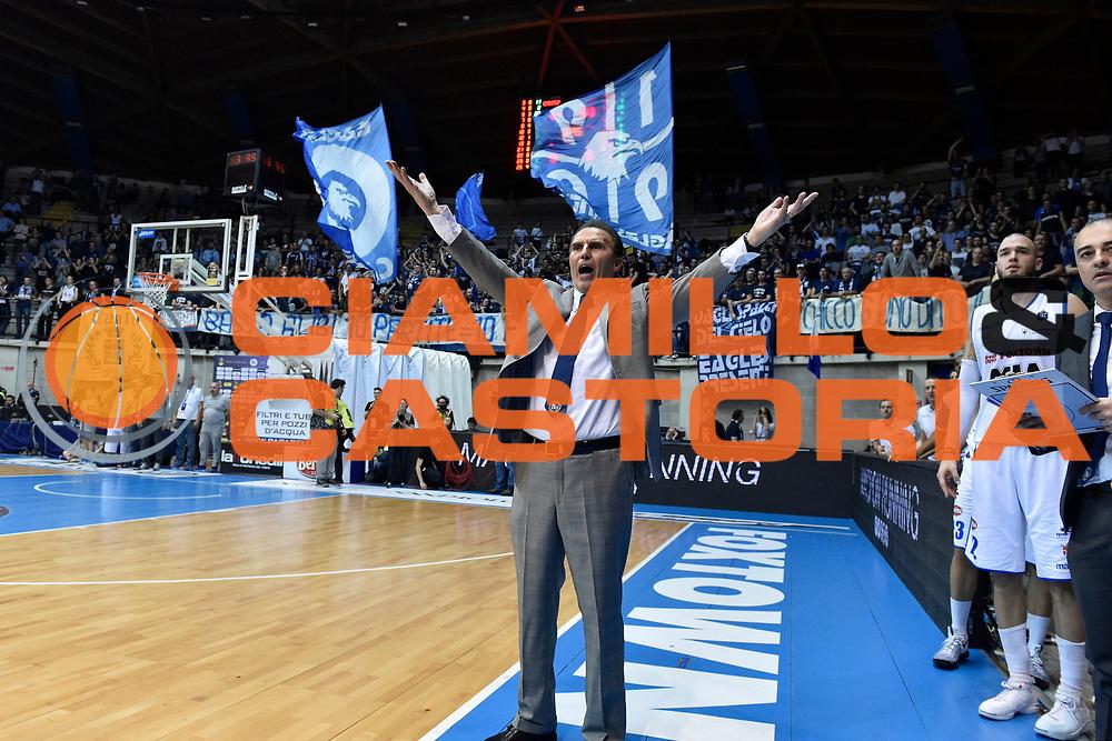 Recalcati Carlo<br /> MIA Cantu - Grissin Bon Reggio Emilia<br /> Lega Basket Serie A 2016/2017<br /> Desio 06/03/2017<br /> Foto Ciamillo-Castoria