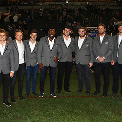 DURBAN, SOUTH AFRICA - JULY 15: The Cell C Sharks  during the Super Rugby match between the Cell C Sharks and Sunwolves at Growthpoint Kings Park on July 15, 2016 in Durban, South Africa. (Photo by Steve Haag/Gallo Images)
