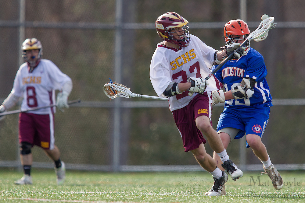 Gloucester Catholic High School Lacrosse vs. Woodstown High School at Total Turf in Pitman, NJ on Monday April 8, 2013. (photo / Mat Boyle)