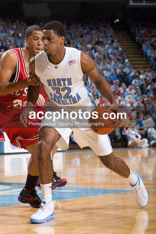 12 January 2008: North Carolina Tar Heels forward Alex Stepheson (32) during a 62-93 win over the North Carolina State Wolfpack at the Dean Smith Center in Chapel Hill, NC.