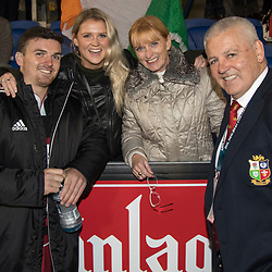 Bryn, Gabby, Trudi and Warren Gatland at Toll Stadium, Whangarei game 1 of the British and Irish Lions 2017 Tour of New Zealand,The match between Provincial Union Team and British and Irish Lions,Saturday 3rd June 2017   <br /> <br /> (Photo by Kevin Booth Steve Haag Sports)<br /> <br /> Images for social media must have consent from Steve Haag