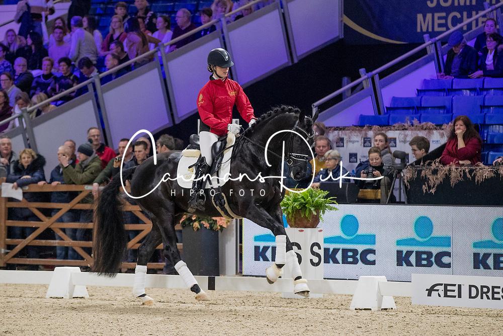 De Ruyter Marlou, BEL, Prinsfarrell I vd Kempenhoeve<br /> Jumping Mechelen 2019<br /> © Hippo Foto - Sharon Vandeput<br /> 29/12/19