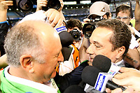 20120527: PORTO ALEGRE, RS, BRAZIL - Coach Luiz Felipe Scolari (Felipao) of  S.E. Palmeiras hugs Vanderlei Luxemburgo after Palmeiras Vs Gremio FPA team match for Brazilian Championship. <br />