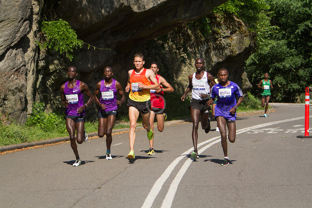 UAE Healthy Kidney 10K, lead pack down to six men mid way through race, Ben True,