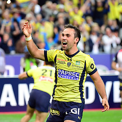 Morgan Parra of Clermont celebrates the victory during the the Top 14 final match between Rc Toulon and Clermont Auvergne  at Stade de France on June 4, 2017 in Paris, France. (Photo by Dave Winter/Icon Sport)