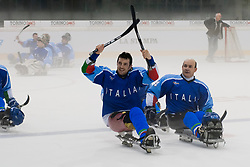 ITA v GER during the 2013 World Para Ice Hockey Qualifiers for Sochi, Torino, Italy