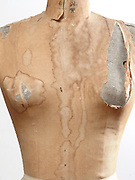 Close up of an old classic dress form mannequin.