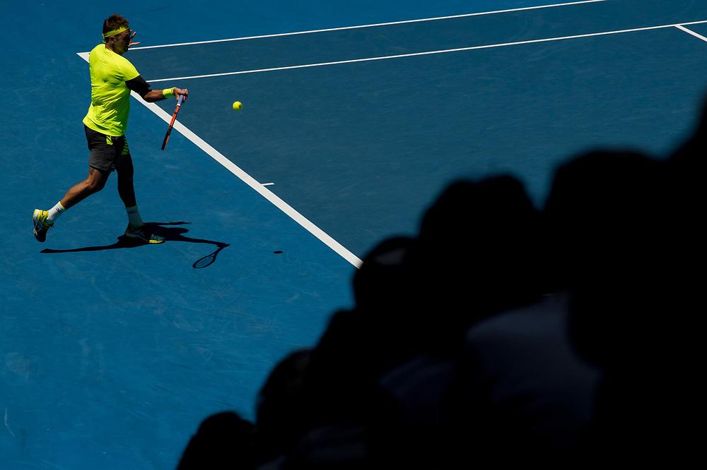 Tennys Sandgren of the United States on day ten of the 2018 Australian Open in Melbourne Australia on Wednesday January 24, 2018.<br /> (Ben Solomon/Tennis Australia)