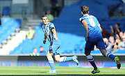 Tomer Hemed opens the scoring the Sky Bet Championship match between Brighton and Hove Albion and Hull City at the American Express Community Stadium, Brighton and Hove, England on 12 September 2015.