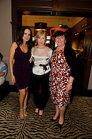 Judges Andrea Roche, Lisa  and Milliner Suzi O Mahony at Hotel Meyrick in Eyre Sq. Galway for their best dressed Lady Competition during Galway's Race week . Photo:Andrew Downes.