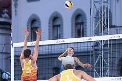 Yorick de Groot of Netherlands at Beach Volleyball Challenge Ljubljana 2019, on August 4, 2019 in Kongresni trg, Ljubljana, Slovenia. Photo by Grega Valancic / Sportida