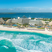 Aerial view of the Paradisus hotel Cancun. Quintana Roo, Mexico.
