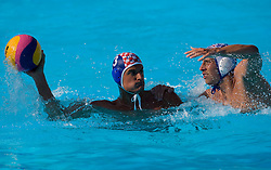 Miho Boskovic of Croatia vs Andrija Prlainovic of Serbia during waterpolo Semifinal Round match between National teams of Croatia and Serbia during the 13th FINA World Championships Roma 2009, on July 30, 2009, at the Stadio del Nuoto,  Foro Italico, Rome, Italy. Serbia won 12:11. (Photo by Vid Ponikvar / Sportida)