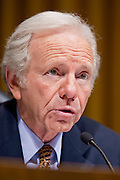 Apr. 20, 2009 -- PHOENIX, AZ: Sen. JOE LIEBERMAN (Ind-CT) chair of the Senate committee hearing in Phoenix Monday. The US Senate Committee on Homeland Security and Government Affairs, chaired by Sen. Joe Lieberman (Ind-CT), held a hearing about local perspectives on border violence in the Phoenix City Council chambers in Phoenix, AZ, Monday.   Photo by Jack Kurtz