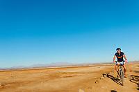 French cyclist Charlie biking in the Eastern Desert