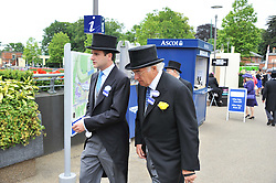 Left to right, JP MAGNIER and JOHN MAGNIER at day 2 of the 2011 Royal Ascot Racing festival at Ascot Racecourse, Ascot, Berkshire on 15th June 2011.